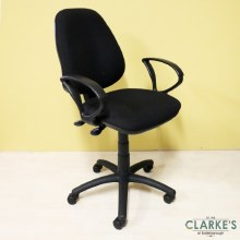 Black Office Chair with Armrests