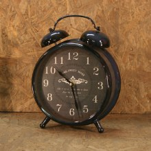 Old Time Clock Twin Bell Blue