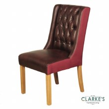 Olivia burgundy dining chair