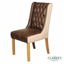 Olivia tan dining chair