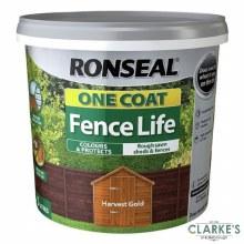 Ronseal One Coat Fence Life Harvest Gold 5L