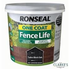 Ronseal One Coat Fence Life Tudor Black Oak 5L