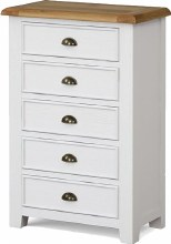 Odyssey Painted 5 Drawer Chest