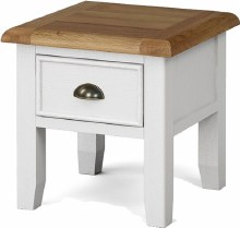 Odyssey Painted Lamp Table with Drawer