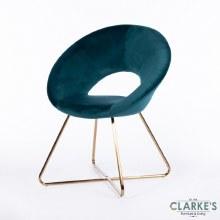 Oslo Velvet Teal Accent Chair