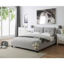 Oslo grey fabric bed frame