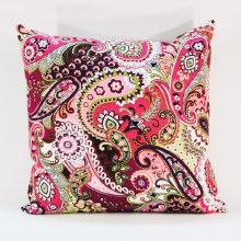 Paisley Swirl Plum Cushion