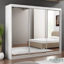 Paris 1.2m Sliding Wardrobe White