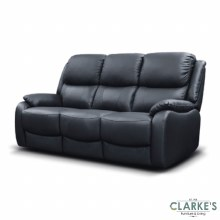 Parker leather sofa black