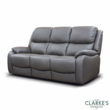 Parker leather sofa grey