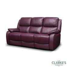 Parker leather sofa wine