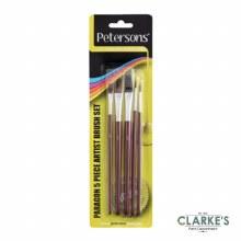 Petersons 5 Piece Artist Brush Set