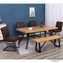 Philadelphia dining table set. Table, 4 chairs and bench.