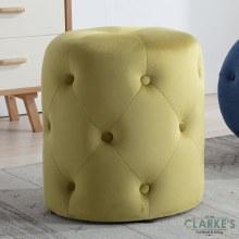 Pinot mustard velvet foot stool