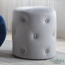 Pinot grey velvet foot stool