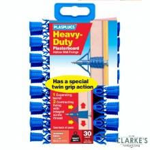 Plasplugs Heavy Duty Plasterboard Plugs   30 Pack