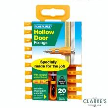 Plasplugs Hollow Door Plugs   20 Pack