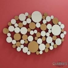 Polvere D'Oro luxury mirrored wall art