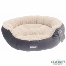 Luxury Style Sherpa Pet Bed Grey