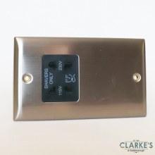 Power Pro Dual Voltage Shaver Socket Brushed Steel