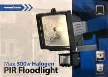 Powermaster 500W Halogen Floodlight with PIR Sensor