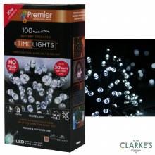 Premier 100 LED (10m) Battery Christmas String Lights Cool White