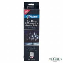 Premier 60 LED (5x20cm) Christmas Snowing Shower Lights Cool White