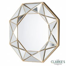Prism Geo gold wall mirror 90cm