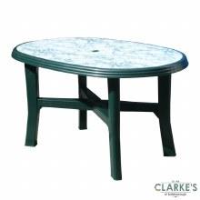 Progarden Tamigi Plastic Garden Table Marble Effect Top