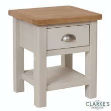 Purdi Painted Lamp Table with Drawers