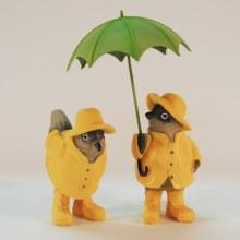 Rainy Day Bird Pair Standing