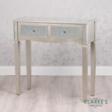Reflection Champagne Console Table with Drawers