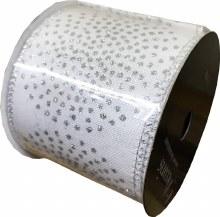 Ribbon White/Silver 6.4x270cm
