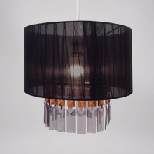 Black Ribbon & Gems Light Shade