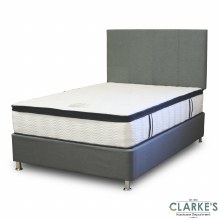 Rimini 4ft6 Bed Base Set with Soft Clouds Finest Mattress | FREE Delivery