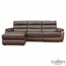 Ritz Leather Corner Sofa LHF Brown