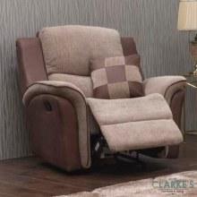 Roberto 1 Seater Recliner Sofa Biscuit Brown