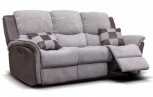 Roberto 3 Seater Recliner Sofa Stone Grey