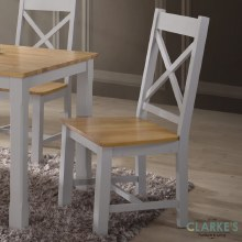 Rochester grey dining chair