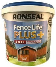 Ronseal Fence Life Plus Harvest Gold 5L