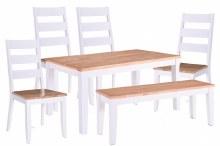 Rona White/Oak Dining Set
