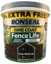 Ronseal One Coat Fence Life Tudor Black Oak 5L