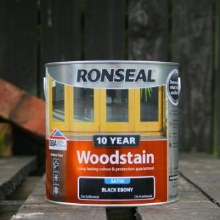 Ronseal Black Ebony 10 Year Woodstain 750 ml