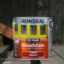 Ronseal Mahogany 10 Year Woodstain 750 ml