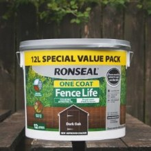 Roanseal Dark Oak One Coat Fence Life 12 Litres