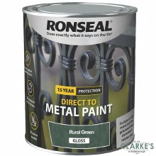 Ronseal Direct To Metal Paint Rural Green Gloss 750ml