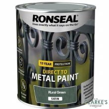 Ronseal Direct To Metal Paint Rural Green Satin 250ml