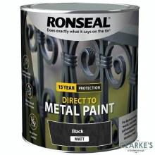 Ronseal Direct To Metal Paint Black Matt 2.5 Litre