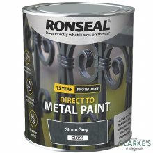 Ronseal Direct To Metal Paint Storm Grey Gloss 250ml