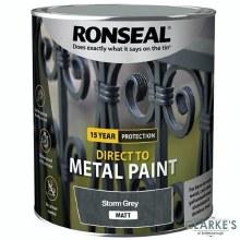 Ronseal Direct To Metal Paint Storm Grey Matt 250ml